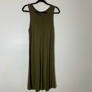 A.N.A Green tank dress XL